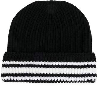 Maison Margiela striped trim beanie