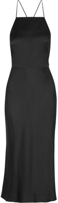 Jason Wu - Satin-crepe Midi Dress - Black $1,495 thestylecure.com