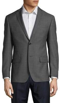 Michael Kors Grid-Print Wool Sports Jacket