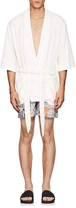 HECHO Men's Cotton-Blend Terry Robe