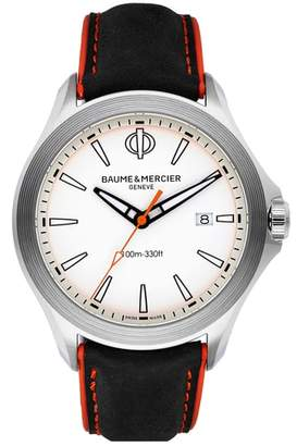 Baume & Mercier BAUME AND MERCIER Clifton Leather Strap Watch, 42mm
