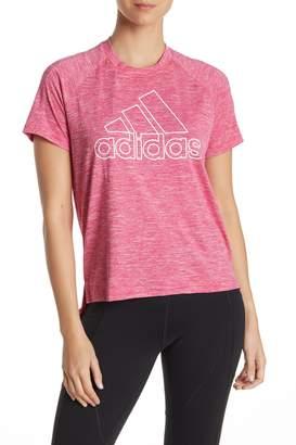 adidas Heathered High/Low Short Sleeve T-Shirt