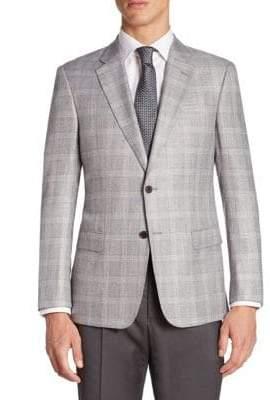 Armani Collezioni Plaid Regular Fit Jacket