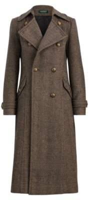Ralph Lauren Herringbone Wool-Blend Coat Sand 8