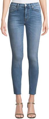 Hudson Natalie Raw-Hem Skinny Ankle Jeans, Light Blue