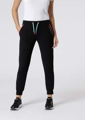 Emporio Armani Ea7 French Terry Jogging Pants With Contrasting Zipper