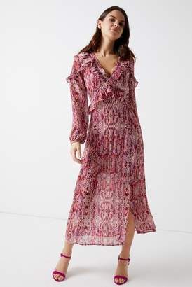 71722c70d00e Next Womens Glamorous Snake Print Long Sleeve Maxi Dress