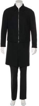 Neil Barrett Wool Skirt-Accented Overcoat