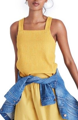 Women's Madewell Apron Crosshatch Tank $45 thestylecure.com