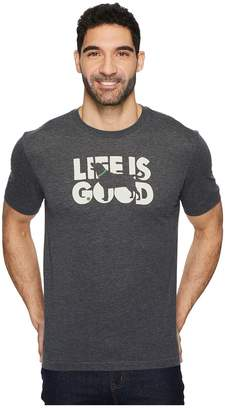 Life is Good Knockout Dog Cool Tee Men's T Shirt