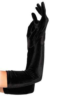 Leg Avenue Women's Velvet Opera Length Gloves