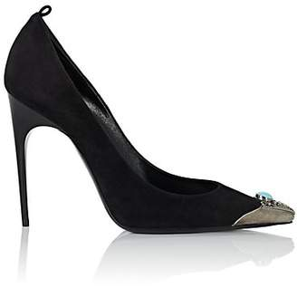 Saint Laurent Women's Zoe Suede Stiletto Pumps - Black