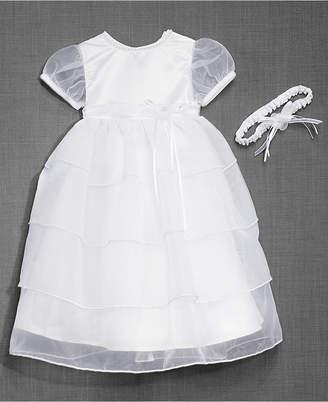 6e0a08b38 Lauren Madison Baby Girls Christening Dress & Headband
