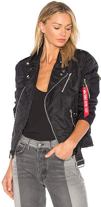 ALPHA INDUSTRIES Outlaw Biker Jacket in Black $250 thestylecure.com