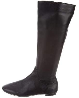 Delman Leather Knee-High Flat Boots