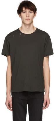 R 13 Grey Destroyed T-Shirt