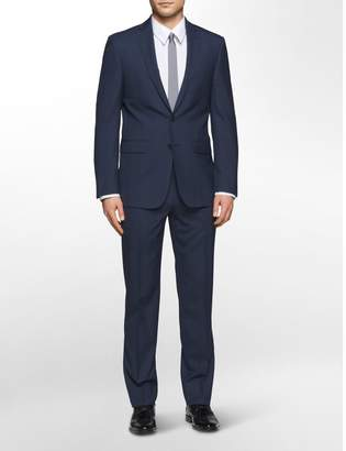 Calvin Klein x-fit ultra slim fit navy check suit