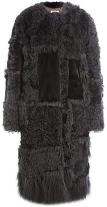 Nina Ricci Shearling Coat with Mink fur
