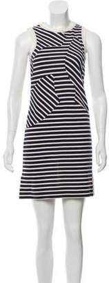 Derek Lam Striped A-Line Dress Beige Striped A-Line Dress