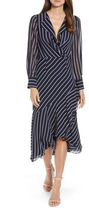 Rachel Roy Collection Stripe Print Maxi Dress