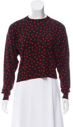 Dolce & Gabbana Wool Polka Dot Print Sweater