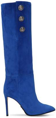 Balmain 95mm Jane Slouchy Suede Boots