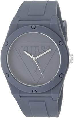 GUESS Quartz Rubber and Silicone Casual Watch