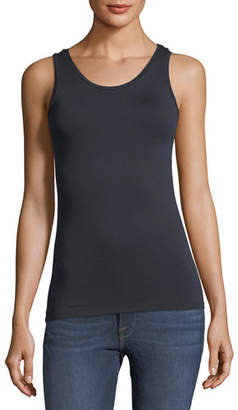 Neiman Marcus Majestic Paris for Soft Touch Scoop-Neck Tank