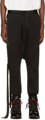 Unravel Black Pockets Lounge Pants $665 thestylecure.com