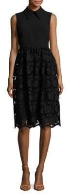 N°21 Lace Ponte Solid Dress