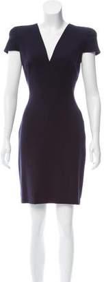 Alexander McQueen Short Sleeve Mini Dress