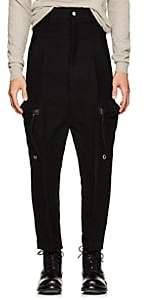 Rick Owens Men's Cotton-Silk Moleskin Drop-Rise Trousers - Black