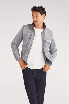 7 For All Mankind Luxe Performance Trucker Jacket in Altruist Grey