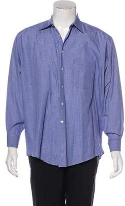 Giorgio Armani Plaid French Cuff Shirt