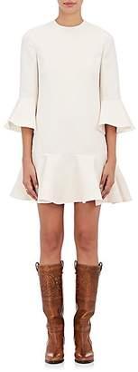 Valentino Women's Ruffled Wool-Silk Dress - Ivorybone