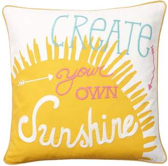 Pottery Barn Teen Coastal Inspiration Pillow Cover, Create Your Own Sunshine