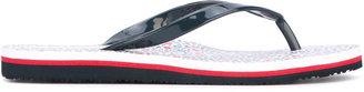 Tommy Hilfiger floral flip flops $46.89 thestylecure.com