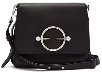 J.W.Anderson Disc Leather Cross Body Bag - Womens - Black