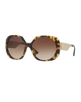 Versace Gradient Embossed Butterfly Sunglasses, Brown Tortoise $240 thestylecure.com