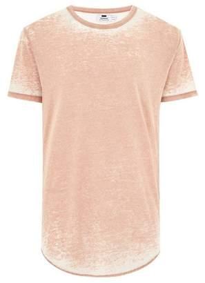 Topman Mens Stone Longline T-Shirt