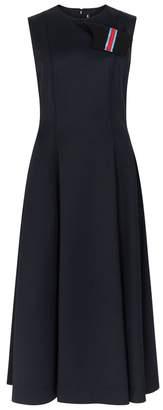 Calvin Klein Navy Wool-blend Midi Dress