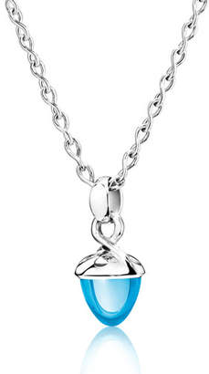 Tamara Comolli Mikado Bouquet Swiss Blue Topaz Pendant Enhancer in White Gold