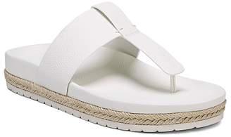 Vince Women's Avani Leather Thong Platform Sandals