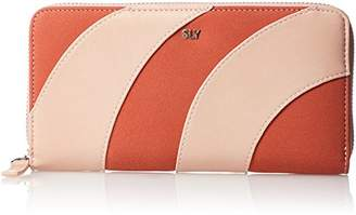 SLY (スライ) - [スライ] ROUND ZIPPED WALLET PATCHWORK s09917204 PBE ペールベージュ