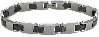 JCPenney FINE JEWELRY Mens Tungsten & Black Ceramic Link Bracelet