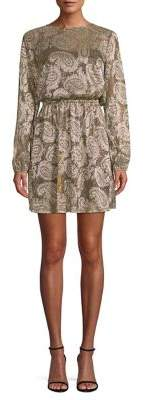 MICHAEL Michael Kors Metallic Paisley Print Dress
