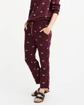 Abercrombie & Fitch Printed Step-Hem Sweatpants