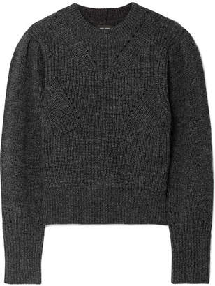 Isabel Marant Belaya Cropped Wool Sweater - Anthracite