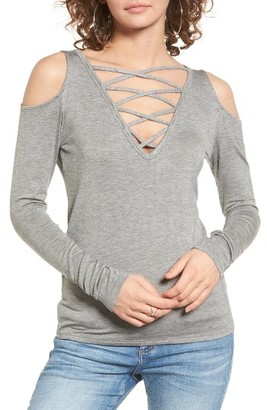Women's Pst By Project Social T Lace-Up Cold Shoulder Tee $32 thestylecure.com