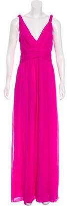 Rachel Zoe V-Neck Sleeveless Evening Dress